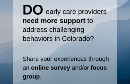 Early Care & Learning Resource Survey